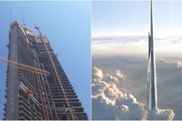 সৌদিতে এগিয়ে চলেছে বিশ্বের সর্বোচ্চ ভবনের নির্মাণকাজ
