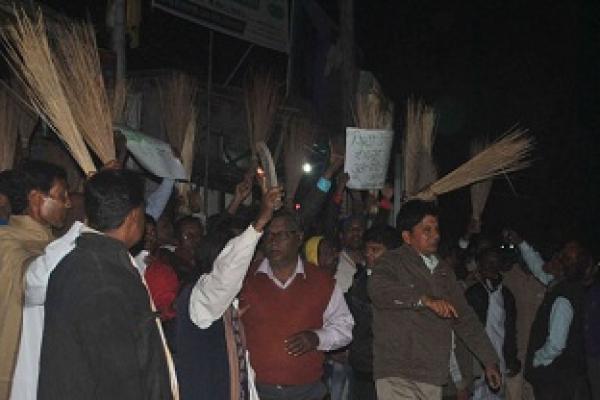 রংপুরে জিয়া উদ্দিন বাবলুর লোকজনের ওপর হামলা, ঝাড়ু মিছিল