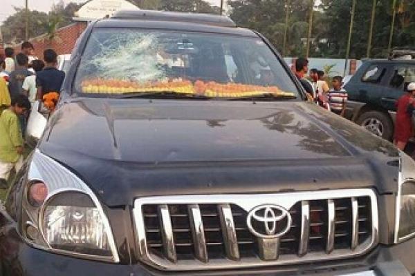 বিএনপির ভাইস চেয়ারম্যান শাহ মোয়াজ্জেমের গাড়িবহরে হামলা, ভাঙচুর