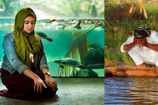 নামাজের ছবি তুলে আন্তর্জাতিক পুরস্কার পেয়েছেন মার্কিন মুসলিম তরুণী সানা উল্লাহ