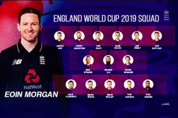 বিশ্বকাপে ইংল্যান্ড দল ঘোষণা : দলে রয়েছেন দুই মুসলিম ক্রিকেটার