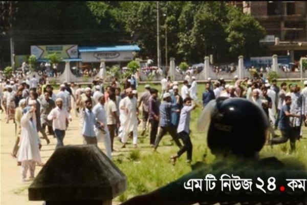 চট্টগ্রামে জামায়াত নেতার জানাজায় ব্যাপক সংঘর্ষ