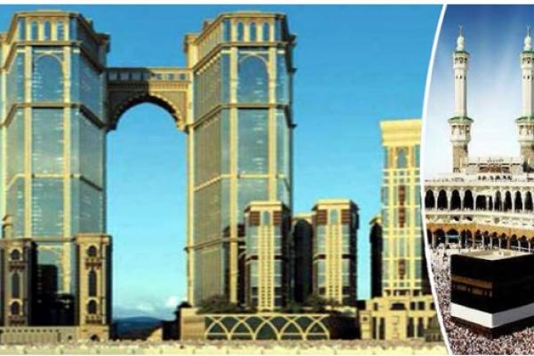 পবিত্র নগরী মক্কায় কাবার পাশেই বিশ্বের সবচেয়ে উঁচু ঝুল'ন্ত মসজিদ নির্মিত হচ্ছে