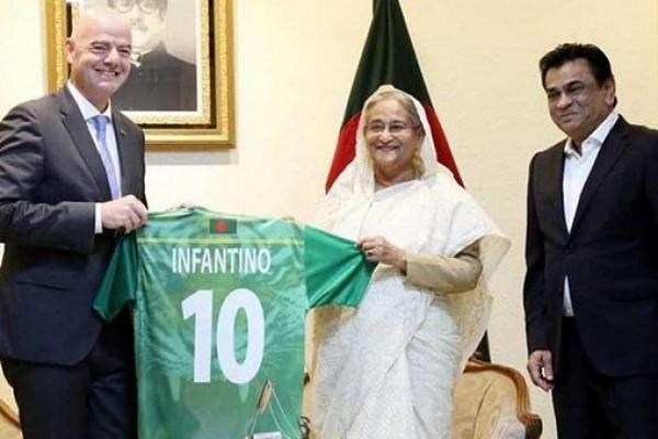 ক্রিকেট নয়, বাংলাদেশের সবচেয়ে জনপ্রিয় খেলা ফুটবল : ফিফা সভাপতি