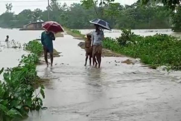 পানি ডুকতে শুরু করেছে সুনামগঞ্জের নিম্নাঞ্চলে