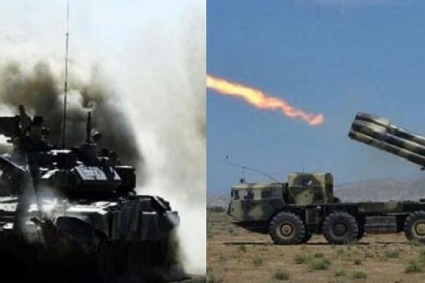 দুই দেশের বাহিনীর মধ্যে তু'মুল সংঘ'র্ষ, বিমান ও কা'মান দিয়ে হা'মলা শুরু