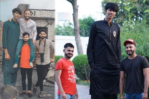 উচ্চতা ৭ ফুট ৬ ইঞ্চি, পাকিস্তানের জার্সিতে খেলাই স্বপ্ন বিশ্বের সবচেয়ে লম্বা ক্রিকেটারের