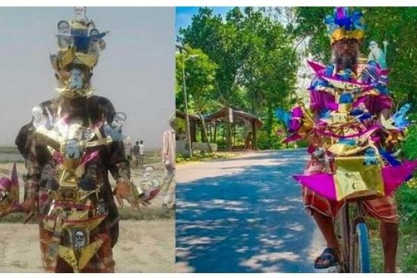 প্রধানমন্ত্রীকে নৌকার তৈরি ডিজিটাল মাস্ক উপহার দিতে চান 'নৌকা পাগল' রসুল