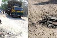 চুয়াডাঙ্গা- ঝিনাইদহ মহাসড়কের কাজ বন্ধ, বাড়ছে জনদুর্ভোগ