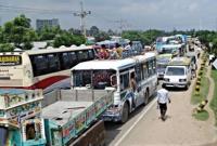 ঢাকা-টাঙ্গাইল মহাসড়কে ৬০ কিলোমিটার যানজট