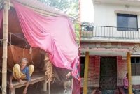 বউ-নিয়ে-দোতলা-বাড়িতে-ছেলে-৮৫-বছরের-বৃদ্ধা-অসহায়-মা-ভাঙা-ঘরে