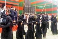 বোরকা-পরে-কুচকাওয়াজে-অংশগ্রহণ-করেন-মাদ্রাসার-নারী-শিক্ষার্থীরা