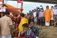 নৌপথে-দিনাজপুরের-উদ্দেশ্যে-শ্রীশ্রী-কান্তজীউর-যাত্রা-শুরু