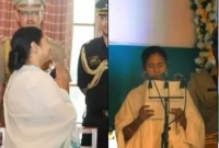 টানা তৃতীয়বারের মতো শপথ নিলেন মমতা